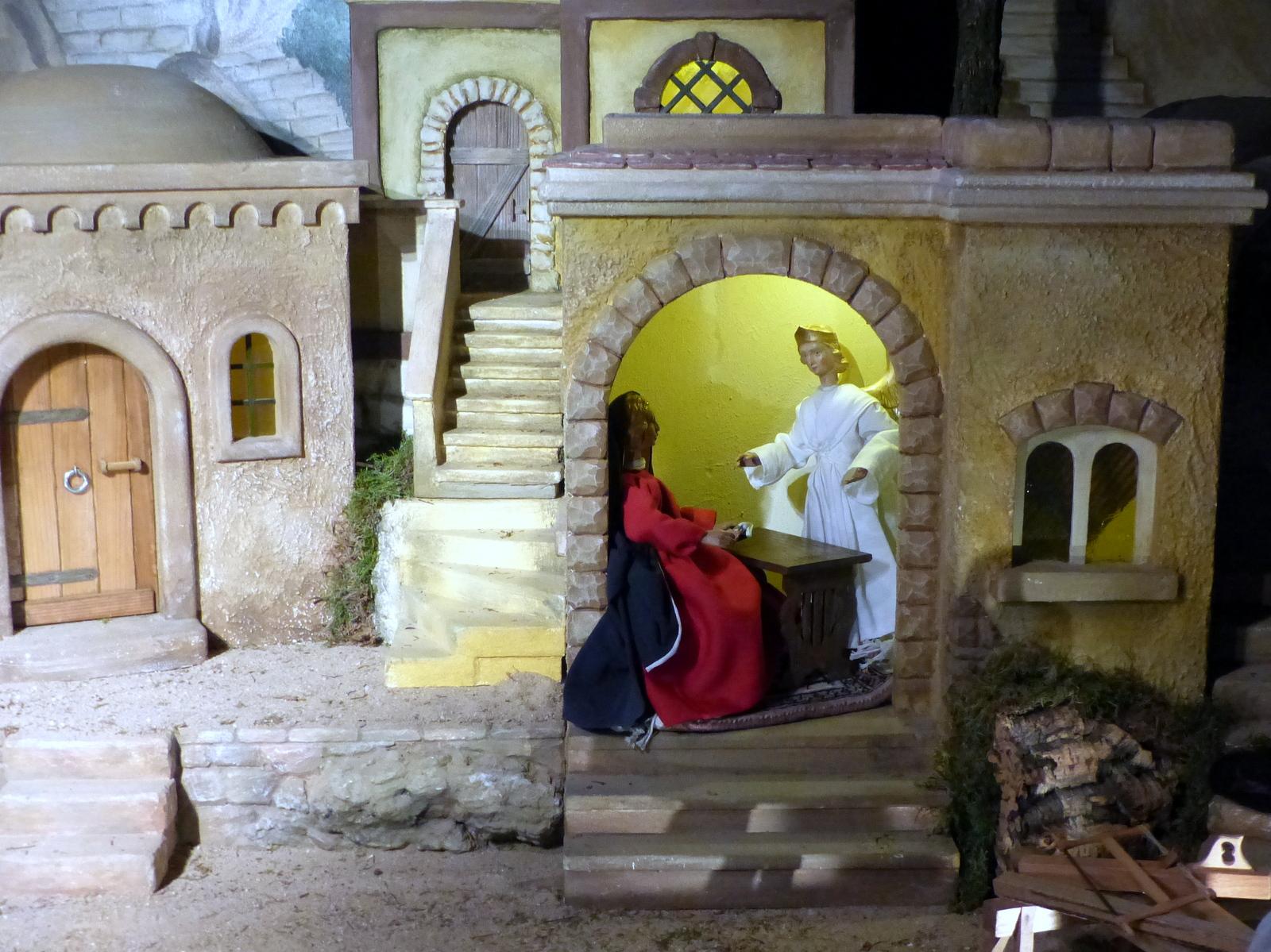 Kirchenkrippe: Maria Verkündigung
